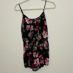 Ambiance Floral Romper Size Small